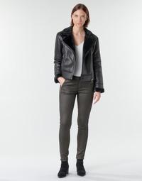 material Women 5-pocket trousers Le Temps des Cerises ANDREA Black