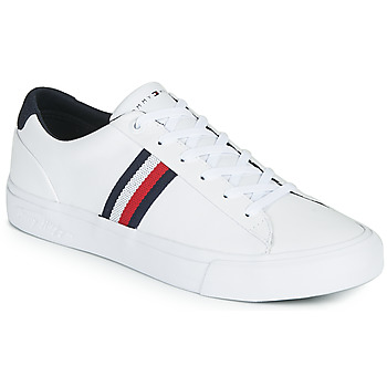 Shoes Men Low top trainers Tommy Hilfiger CORPORATE LEATHER SNEAKER White