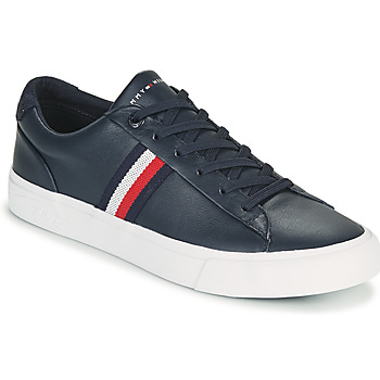 Shoes Men Low top trainers Tommy Hilfiger CORPORATE LEATHER SNEAKER Marine