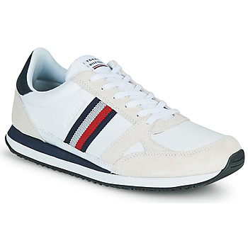 Shoes Men Low top trainers Tommy Hilfiger RUNNER LO LEATHER STRIPES White