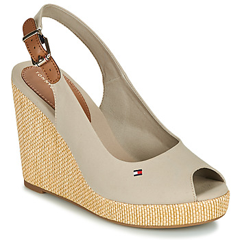 Shoes Women Sandals Tommy Hilfiger ICONIC ELENA SLING BACK WEDGE Taupe