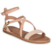 Shoes Women Sandals Tommy Hilfiger ESSENTIAL TOMMY FLAT SANDAL Cognac