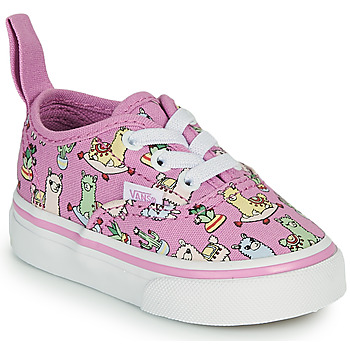 Shoes Girl Low top trainers Vans AUTHENTIC ELASTIC LACE Pink