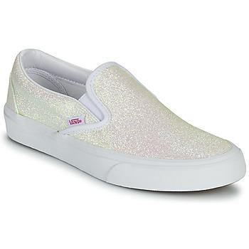 Shoes Women Slip ons Vans CLASSIC SLIP ON Uv / Glitter / Beige / Pink