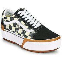 Shoes Women Low top trainers Vans OLD SKOOL STACKED Black / White