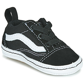 Shoes Children Low top trainers Vans OLD SKOOL CRIB Black / White