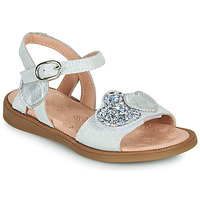 Shoes Girl Sandals Acebo's 5500SU-BLANCO White / Silver