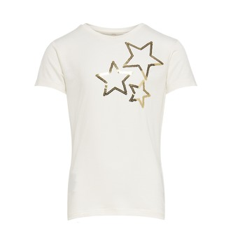 material Girl short-sleeved t-shirts Only KONMOULINS STAR White