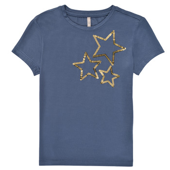 material Girl short-sleeved t-shirts Only KONMOULINS STAR Blue