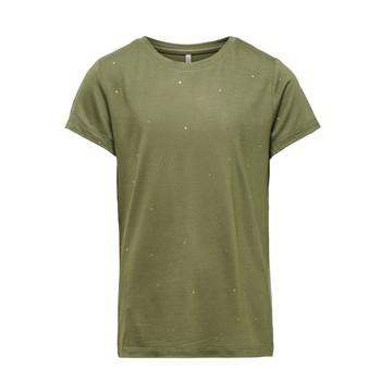 material Girl short-sleeved t-shirts Only KONMOULINS Kaki