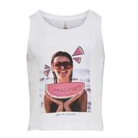 material Girl Tops / Sleeveless T-shirts Only KONLANA White
