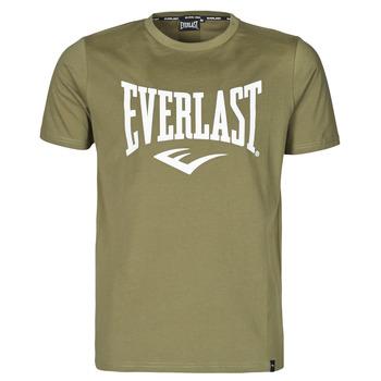 material Men short-sleeved t-shirts Everlast EVL- BASIC TEE-RUSSEL Khaki