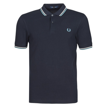 material Men short-sleeved polo shirts Fred Perry TWIN TIPPED FRED PERRY SHIRT Marine / White / Blue
