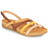 Shoes Women Sandals El Naturalista ZUMAIA Brown / Yellow / Pink
