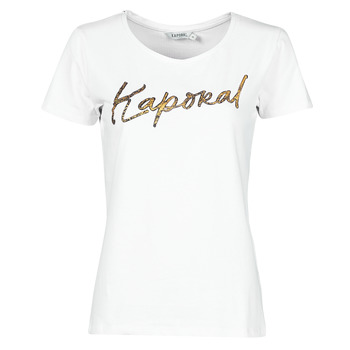 material Women short-sleeved t-shirts Kaporal PETER White