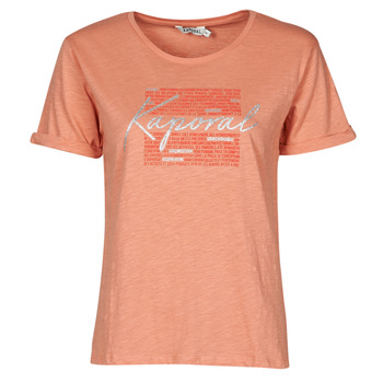 material Women short-sleeved t-shirts Kaporal PUZZU Pink