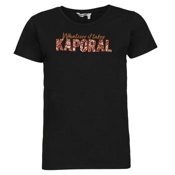 material Women short-sleeved t-shirts Kaporal PENIN Black