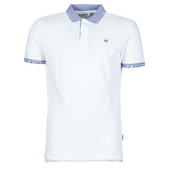 material Men short-sleeved polo shirts Kaporal DRAZI White