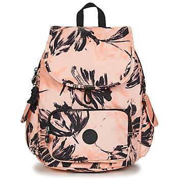 Bags Women Rucksacks Kipling CITY PACK S Pink / Black