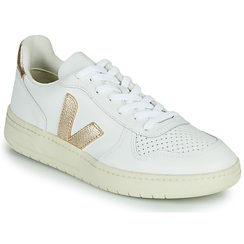 Shoes Women Low top trainers Veja V-10 White / Gold