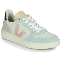 Shoes Women Low top trainers Veja V-10 White / Blue