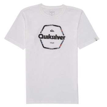 material Boy short-sleeved t-shirts Quiksilver HARD WIRED White