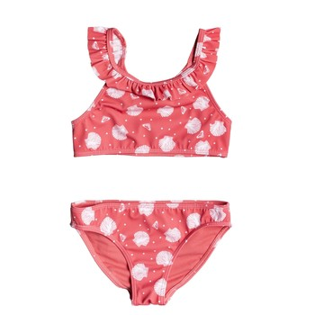 material Girl Swimsuits Roxy TEENY EVERGLOW CROP TOP SET Pink