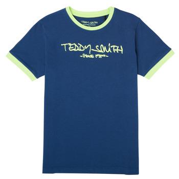 material Boy short-sleeved t-shirts Teddy Smith TICLASS 3 Marine