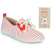 Shoes Children Low top trainers Armistice STONE ONE White / Red
