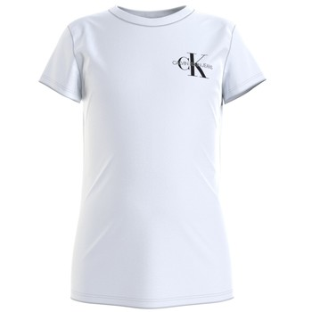 material Girl short-sleeved t-shirts Calvin Klein Jeans CHEST MONOGRAM TOP White