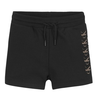 material Girl Shorts / Bermudas Calvin Klein Jeans CK REPEAT FOIL KNIT SHORTS Black