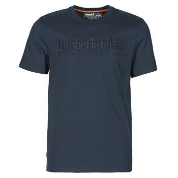 material Men short-sleeved t-shirts Timberland SS OUTDOOR HERITAGE LINEAR LOGO TEE REGULAR Marine
