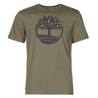 material Men short-sleeved t-shirts Timberland SS KENNEBEC RIVER BRAND TREE TEE Kaki
