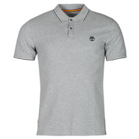 material Men short-sleeved polo shirts Timberland SS MILLERS RIVER TIPPED PIQUE SLIM Grey