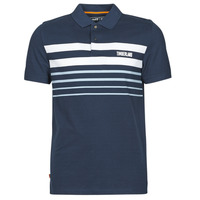 material Men short-sleeved polo shirts Timberland SS MILLERS RIVER PLACEMENT STRIPE POLO REGULAR Marine / White