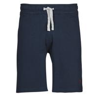 material Men Shorts / Bermudas U.S Polo Assn. TRICOLOR SHORT FLEECE Blue