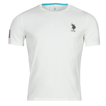 material Men short-sleeved t-shirts U.S Polo Assn. NEW FRANCES TEE White