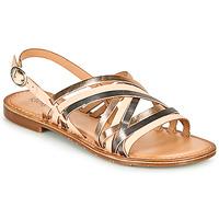 Shoes Women Sandals Kickers ETRUSK Pink / Metal / Silver