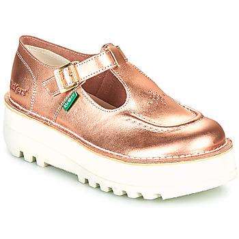 Shoes Women Ballerinas Kickers KICKOUSTRAP Pink / Metal