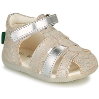 Shoes Girl Sandals Kickers BIGFLO-2 Silver