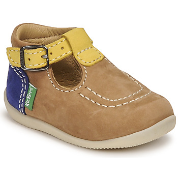 Shoes Boy Sandals Kickers BONBEK-2 Beige / Yellow / Marine