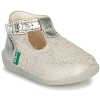 Shoes Girl Ballerinas Kickers BONBEK-2 Silver