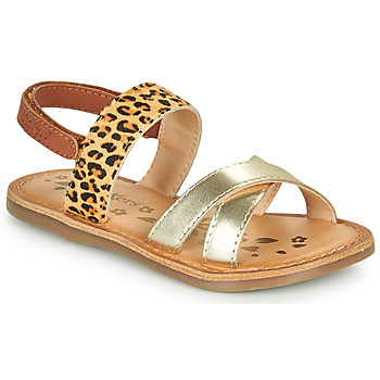Shoes Girl Sandals Kickers DYACROSS Gold / Leopard