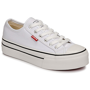 Shoes Girl Low top trainers Levi's HIGH BALL White