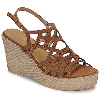 Shoes Women Sandals Marco Tozzi FRANCINE Cognac