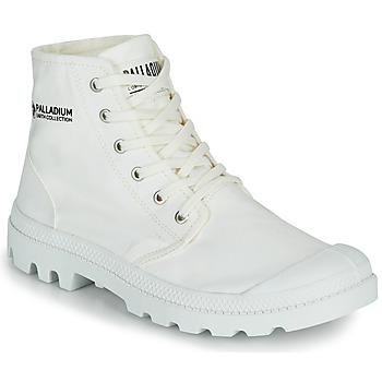 Shoes Mid boots Palladium PAMPA HI ORGANIC II White