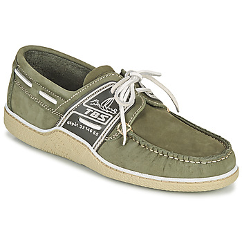Shoes Men Boat shoes TBS GLOBEK Green