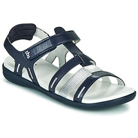 Shoes Women Sandals TBS RISSANI Marine / Silver