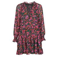 material Women Short Dresses Moony Mood  Black / Pink