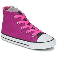 Shoes Girl High top trainers Converse ALL STAR PARTY HI Pink